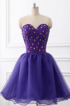 The image of real amethyst dress dear short sleeveless top pearl party homecoming dress