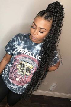 85 Box Braids Hairstyles for Black Women - Hairstyles Trends Feed In Braids Ponytail, Feed In Braids Hairstyles, Black Girl Braided Hairstyles, Braided Ponytail Hairstyles, Black Girl Braids, Braids For Black Hair, My Hairstyle, Baddie Hairstyles, Black Women Hairstyles