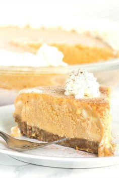 Pumpkin Ice Cream Pie Recipe - from RecipeGirl.com