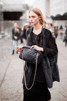 Model Street Style : Sasha Pivovarova