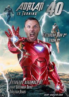 Adult Iron Man Caricature, Adult Birthday, Funny male adult birthday. Adult…