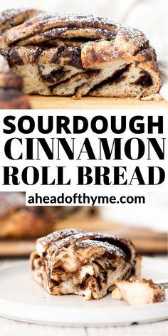 Sourdough Cinnamon Bread Recipe, Soft Sourdough Bread, Sourdough Starter Discard Recipe, Cinnamon Roll Bread, Tasty Bread Recipe, Sourdough Recipes, Bread Appetizers, Homemade Breads, Fermented Foods