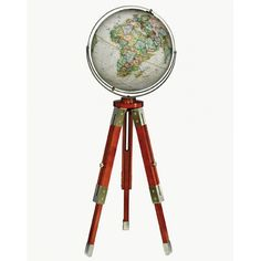 The Eaton features the latest National Geographic cartography in colors reminiscent of parchment globes from centuries past. Thousands of place names give an accurate view of contemporary political boundaries. Raised relief helps distinguish topographic features around the world. Its antique brass plated gyro-matic meridian and hardware add to the classic look of this handsome tripod stand. Some assembly required.