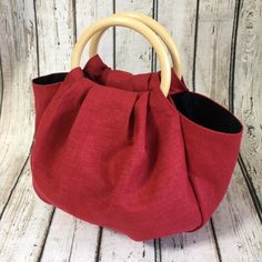 Wooden Handle Bag, Diy Bags Purses, Coin Purses, Potli Bags, Diy Tote Bag, Diy Handbag, Linen Bag, Denim Bag, Fabric Bags