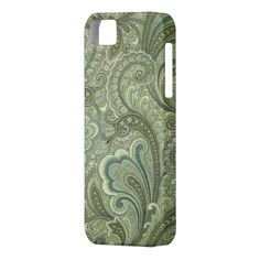 Paisley Sage Case-Mate Vibe iPhone 5  by Westernpalamino on Zazzle