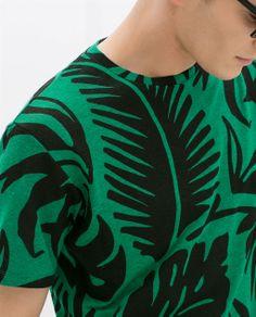 ddc7720dddf PRINTED LINEN T-SHIRT from Zara