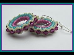 Herringbone Hoop Earrings - YouTube