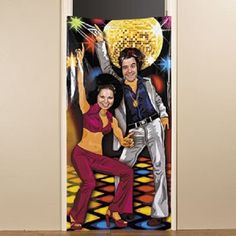 Vinyl Disco 70's Party Prop Photo Door Banner Poster Decoration | eBay