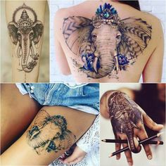 Elephant Tattoo Designs - Most Popular Elephant Tattoos with Meaning - image for you Geometric Elephant Tattoo, Simple Elephant Tattoo, Mandala Elephant Tattoo, Watercolor Elephant Tattoos, Elephant Tattoo Meaning, Elephant Tattoo Design, Small Inspirational Tattoos, Small Quote Tattoos, Small Meaningful Tattoos