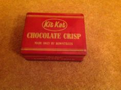 VINTAGE KIT KAT TIN MADE ONLY BY ROWNTREES
