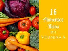 16 Alimentos ricos en vitamina A que deberías incluir en tu dieta para que puedas mejorar la salud de piel, la visión y prevenir distintos tipos de enfermedades.
