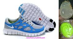 Nike Free Mens Runs 2 Stealth/Pure Platinum/Neptune Blue Shoes