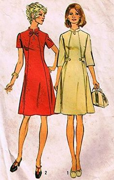 "Simplicity 6158 Misses Dress in Half Sizes -Look Slimmer Sewing Pattern Size 14.5 Bust 37"" Vintage 1973 Simplicity http://www.amazon.com/dp/B00X6RLI28/ref=cm_sw_r_pi_dp_7Kvowb1T86DQF"