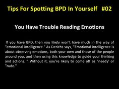Tips For Spotting BPD In Yourself