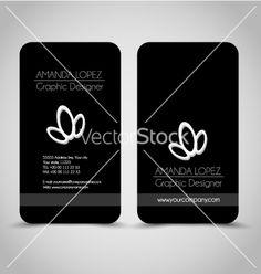Business card design set template for company vector - by MilanaAdams on VectorStock®