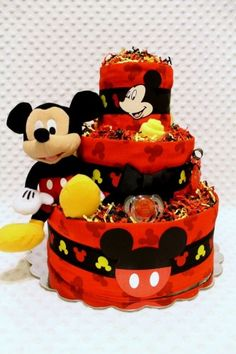 Mickey Mouse Baby Diaper Cake