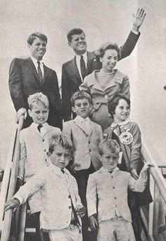 Bobby, with his brother Jack and wife Ethel with their children.