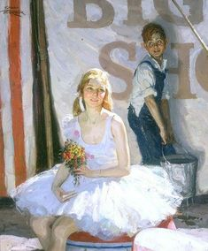 Saul Tepper -  Her Secret Admirer  Oil on canvas, 25 inches x 21 inches -  Kelly Collection American Illustration Art