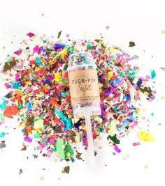 celebrate it with colorful Push-Pop Confetti