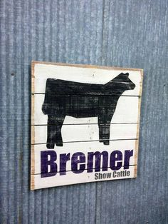 A great custom gift for a show cattle family. Add their farm name or a memorable date to the bottom. Any part of this can be customized. Add