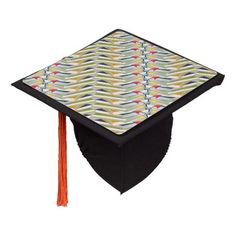 ZigZag Book Stacks Graduation Cap Topper