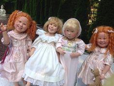 Vinyl dolls sculpted by Anne Mitrani Vinyl Dolls, Pretty Dolls, Art Dolls, Sculpting, Ann, Flower Girl Dresses, Myrtle, Children, Wedding Dresses