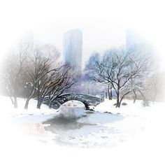 Central-Park-in-Winter-AP-sm.png ❤ liked on Polyvore featuring winter and backgrounds