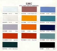 1970 color code - The 1947 - Present Chevrolet & GMC Truck ...