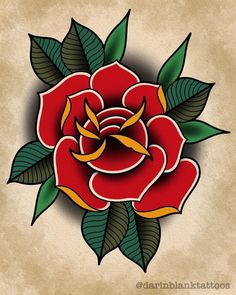 Ideas Tattoo Traditional Swallow Roses Informations About Ideas Tattoo Traditional S American Traditional Rose, Neo Traditional Roses, Traditional Tattoo Flowers, Traditional Sleeve, Traditional Tattoo Stencils, Traditional Tattoo Design, Traditional Tattoo Flash, Rose Oldschool, Flower Tattoo Designs