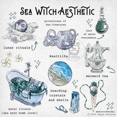 Witch Spell Book, Witchcraft Spell Books, Wicca Witchcraft, Magick, Water Witch, Sea Witch, Witch Art, Arte Digital Fantasy, Foto Fantasy