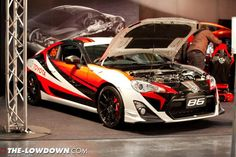 This TRD Toyota 86 has its bonnet up