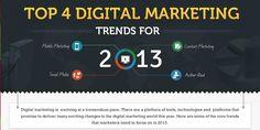 Top 4 Digital Marketing Trends for 2013 [Infographic] - http://www.creativeguerrillamarketing.com/advertising/top-4-digital-marketing-trends-for-2013-infographic/