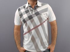 Burberry Mens Polo Shirt WHITE