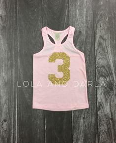 Number tank for toddlers in gold sparkle by LolaandDarlaDesigns on Etsy https://www.etsy.com/listing/238950245/number-tank-for-toddlers-in-gold-sparkle