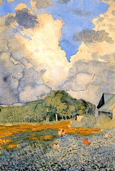 Konstantin Somov (1869-1939) - After the Rain