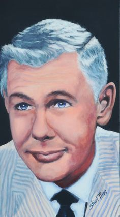Portrait by Shirl Theis of Johnny Carson