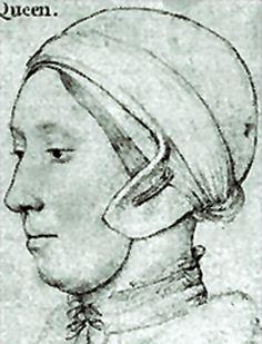 Ann Boleyn as drawn by Holbein.  Not exactly the Renaissance Audrey Hepburn in a little black dress we usually see.    Goodreads Quiz on Ann Boleyn:  http://www.goodreads.com/quizzes/13208-anne-boleyn-quiz