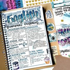 Bullet Journal Banner, Bullet Journal School, Bullet Journal Ideas Pages, Bullet Journal Layout, Bullet Journal Inspiration, Cute Notes, Pretty Notes, Hand Lettering Alphabet, Notes Design