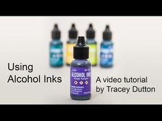 A video tutorial from http://LaviniaStamps.com showing how to use the new alcohol based Inks for papercraft and stamping projects. The video shows three card...