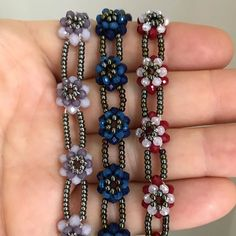 Image may contain: 1 person, jewelry Jewelry Patterns, Bracelet Patterns, Beaded Jewelry, Jewelry Bracelets, Pearl Jewelry, Recycled Jewelry, Bohemian Bracelets, Fantasy Jewelry, Bracelet Tutorial