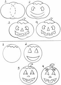 How to Draw a Jack O' Lantern - free sample page from Dover Publications.