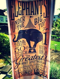 Circus sign decor from Vintage Classic Circus Birthday Party at Kara's Party Ideas. See more at karaspartyideas.com!