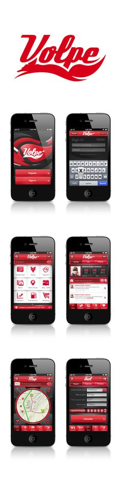 Volpe Motors Corporate / by Joseph Le, via Behance | nice apps