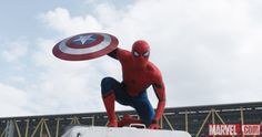 Spider-Man (Tom Holland) drops by in Marvel's 'Captain America: Civil War.'