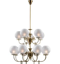 South Shore Late Victorian Gas-Style Chandelier - black enamel. edison bulbs instead of shades.