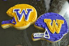 University of Washington Helmet Cookies
