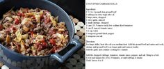 Unstuffed Cabbage rolls- 7pts for whole pot on Weight Watchers