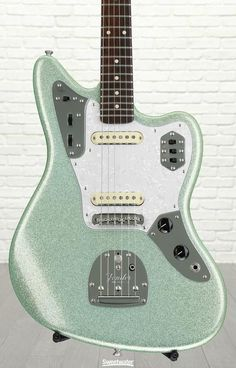 Solidbody Electric Guitar, Limited Edition, with 2-piece Select Alder Body, Rosewood Neck/Fretboard, 2 Single-coil Pickups, and Floating Tremolo - Surf Green Sparkle
