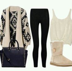 I could do without the Uggs, but other than that, I love this outfit!