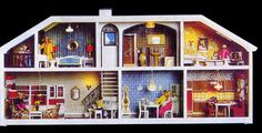 I have this in my attic just waiting until Emma is old enough for it. I have wonderful memories of this dollhouse.